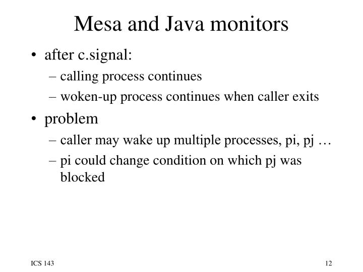 Mesa and Java monitors