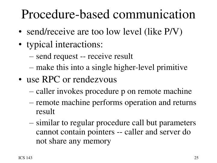 Procedure-based communication