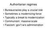 authoritarian regimes