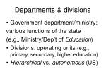 departments divisions