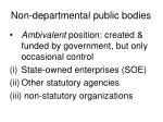 non departmental public bodies