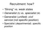 recruitment how