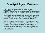 principal agent problem