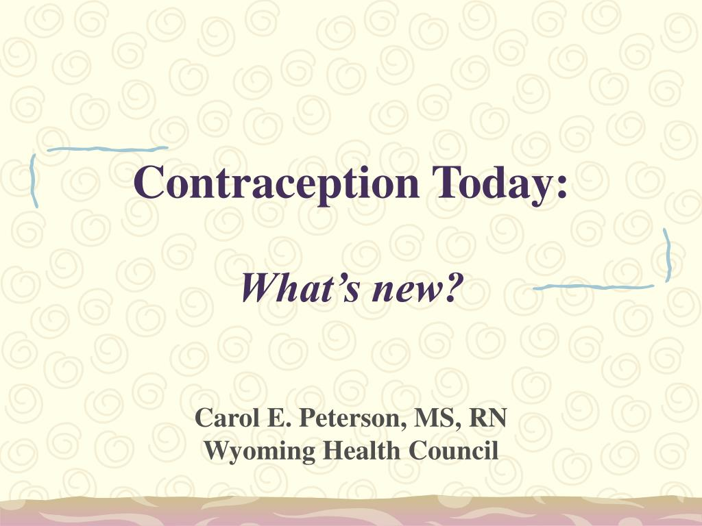 contraception today what s new l.