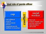 dual role of parole officer