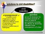 solutions to civil disabilities