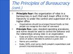 the principles of bureaucracy cont18