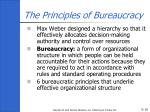the principles of bureaucracy