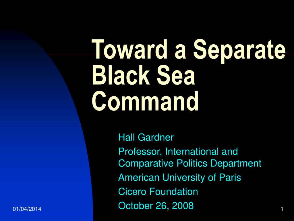 toward a separate black sea command l.