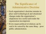 the significance of administrative doctrine10