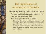 the significance of administrative doctrine12