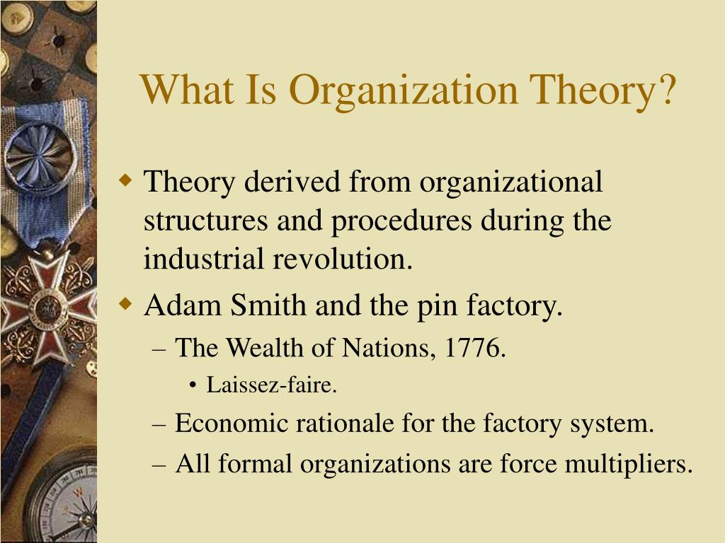organizations and organizational theory An ambitious new work by a well-respected economic sociologist, rational choice theory and organizational theory: a critique, offers a new perspective on the strategy and actions of organizations.