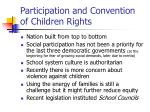 participation and convention of children rights