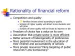rationality of financial reform