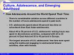culture adolescence and emerging adulthood18