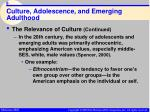 culture adolescence and emerging adulthood8