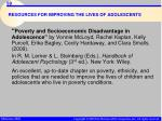 resources for improving the lives of adolescents59