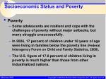 socioeconomic status and poverty22