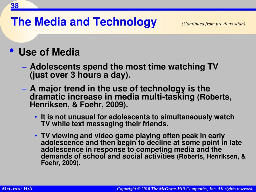 The Media and Technology