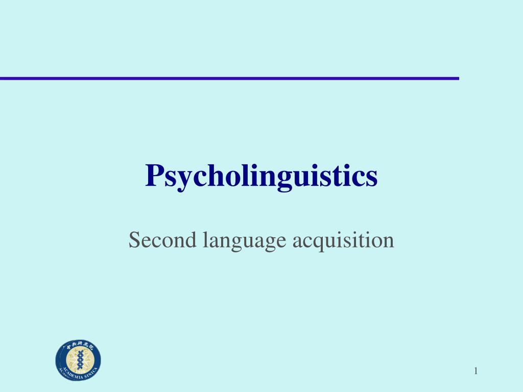 psycholinguistics l.