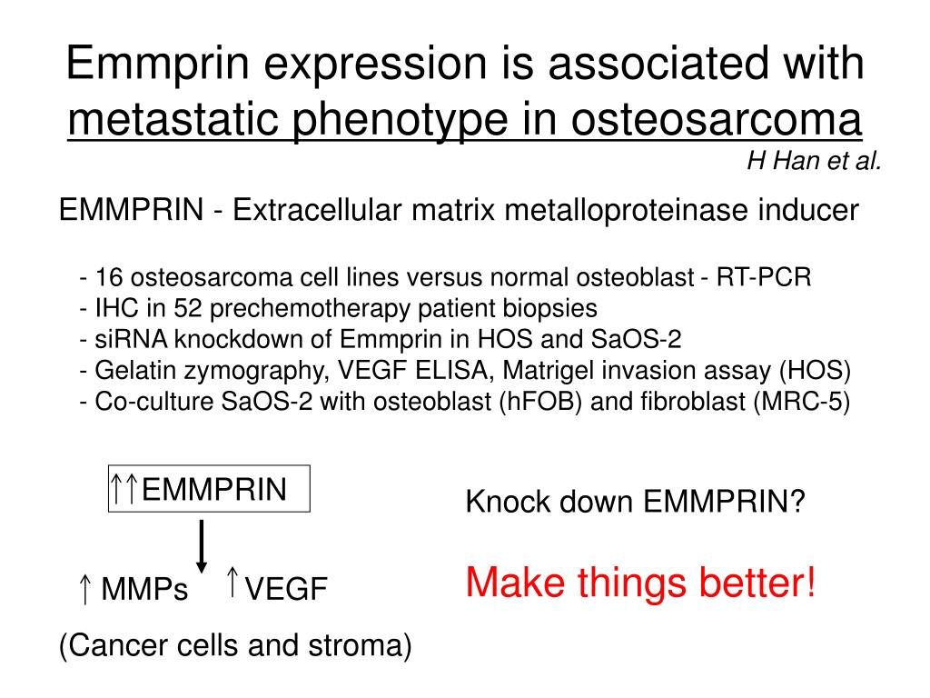 Emmprin expression is associated with