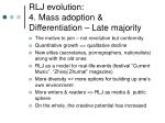 rlj evolution 4 mass adoption differentiation late majority