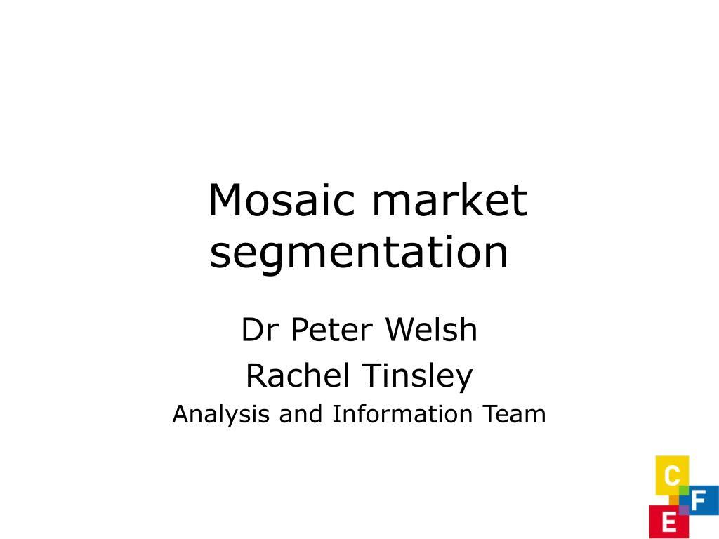mosaic market segmentation l.