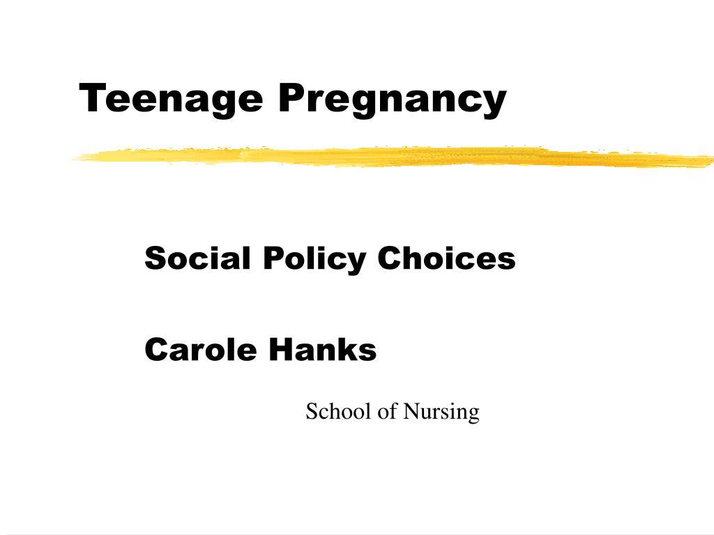 teenage pregnancy l.