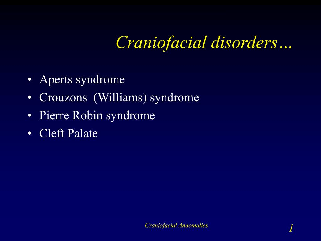 craniofacial disorders l.
