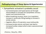pathophysiology of sleep apnea hypertension