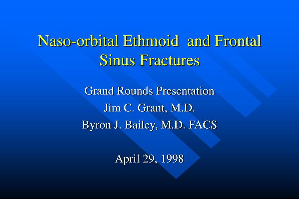 naso orbital ethmoid and frontal sinus fractures