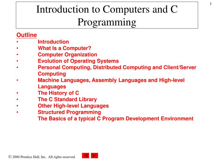 introduction to computers and c programming n.