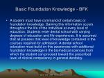 basic foundation knowledge bfk