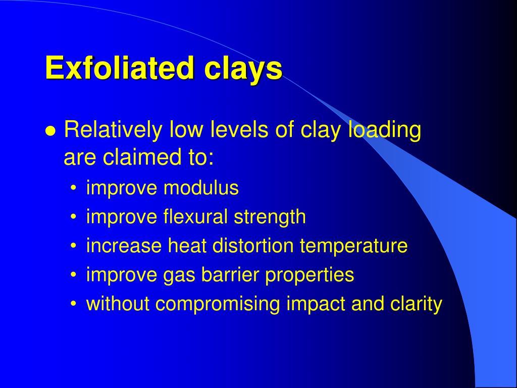 Exfoliated clays