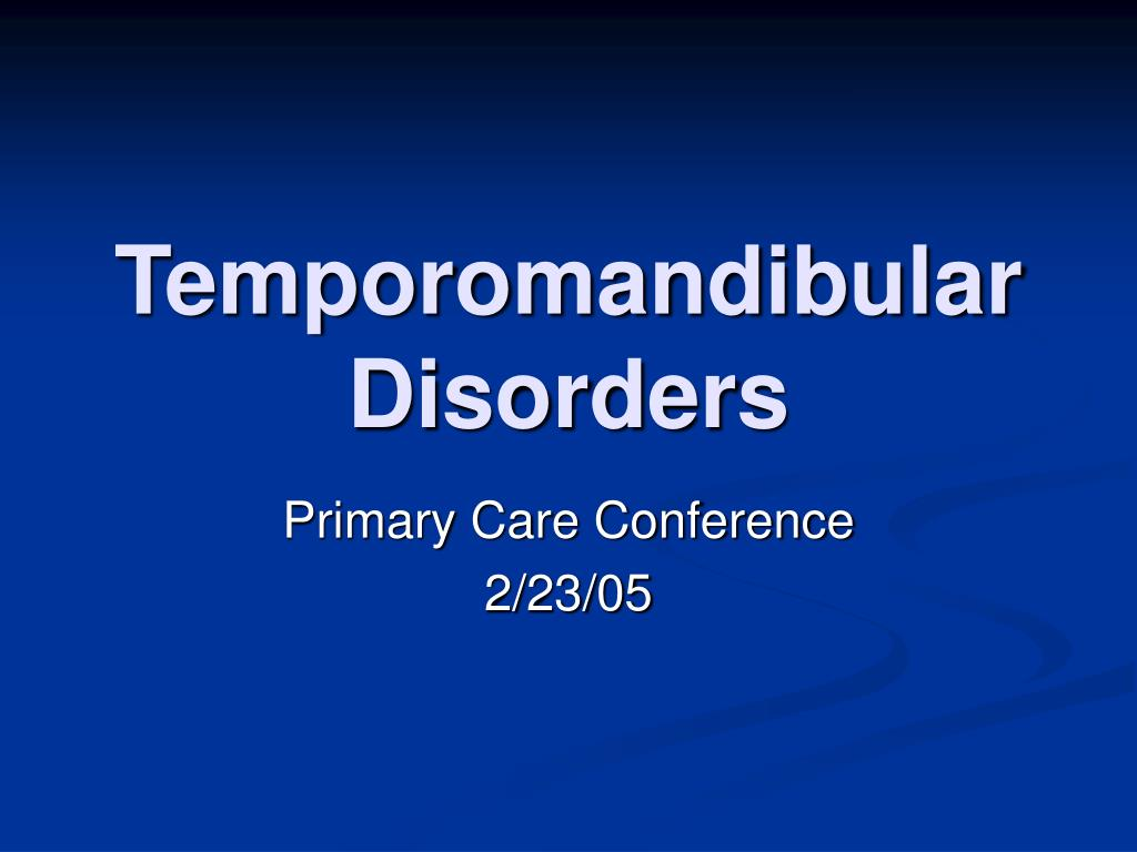 temporomandibular disorders l.
