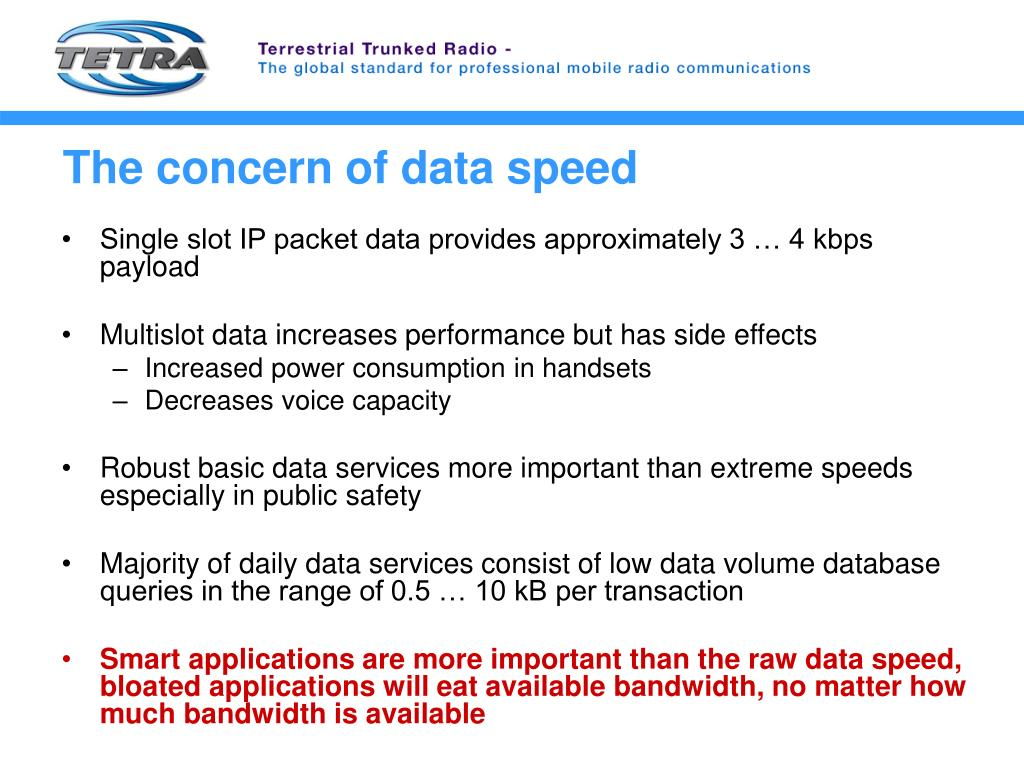 PPT - TETRA Data Services & Applications PowerPoint