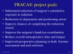 fracas project goals