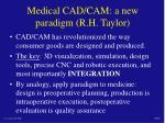 medical cad cam a new paradigm r h taylor