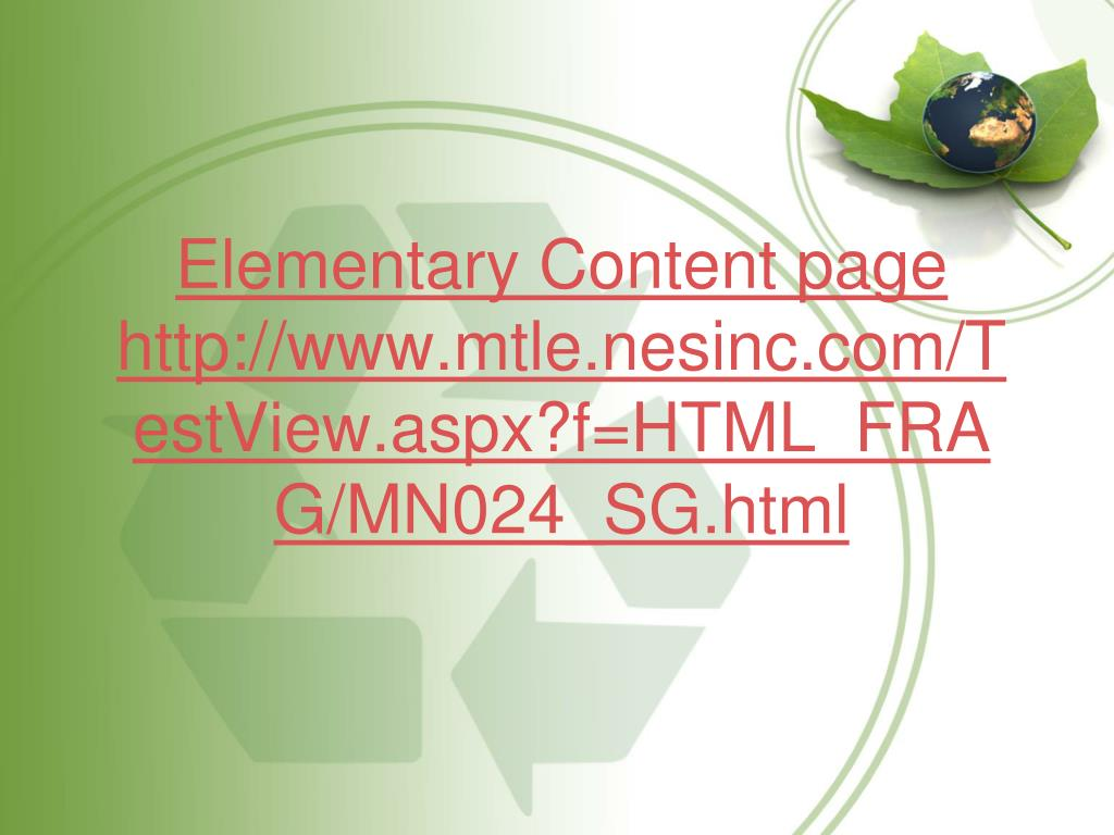 Elementary Content page http://www.mtle.nesinc.com/TestView.aspx?f=HTML_FRAG/MN024_SG.html