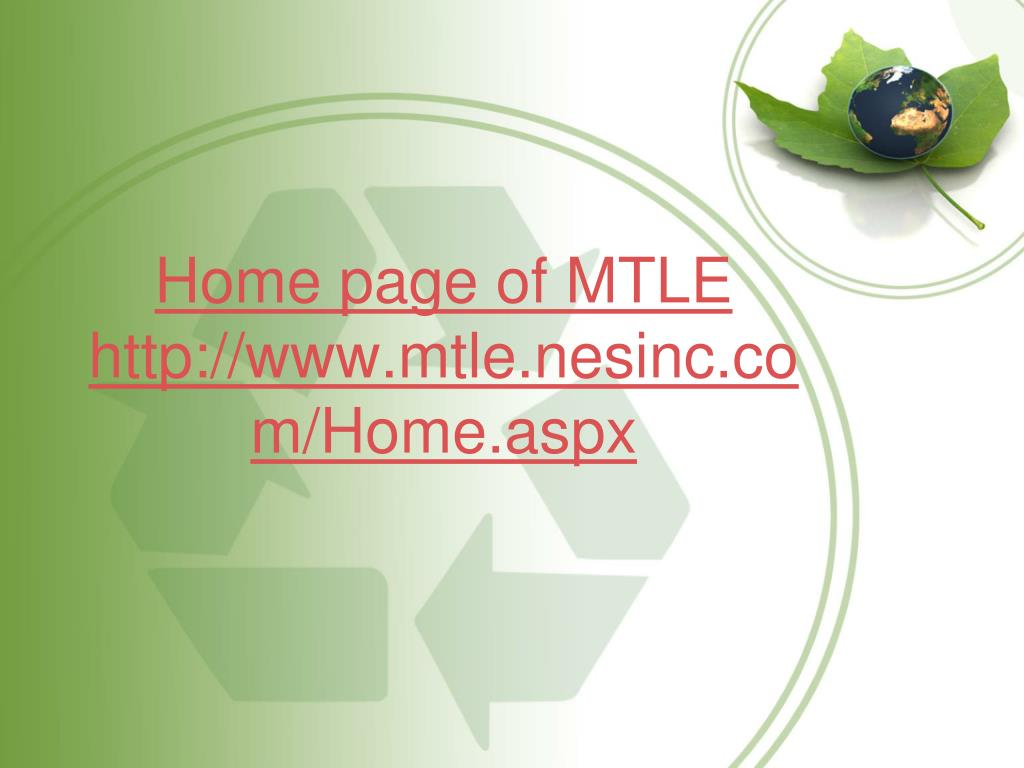 Home page of MTLE