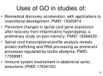 uses of go in studies of