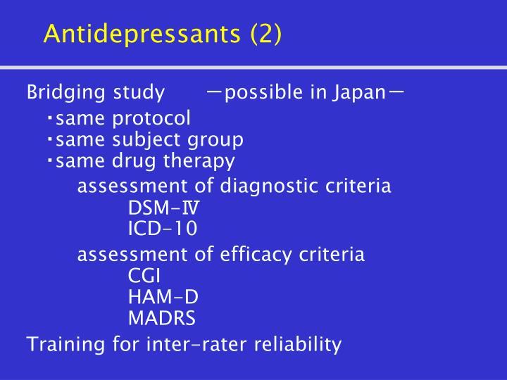 Antidepressants 2