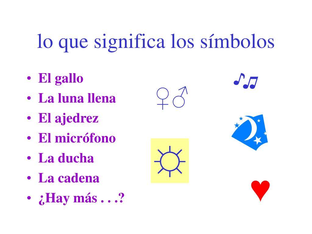 lo que significa los símbolos