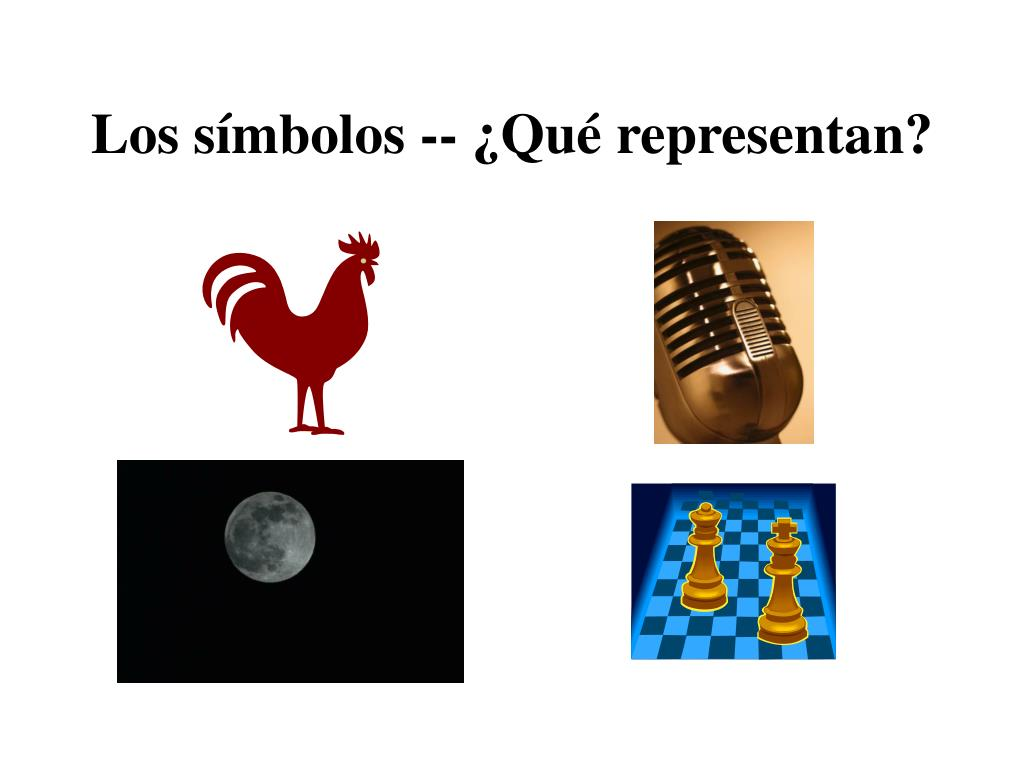 Los símbolos -- ¿Qué representan?