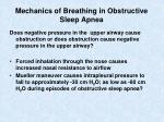 mechanics of breathing in obstructive sleep apnea
