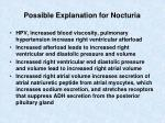 possible explanation for nocturia