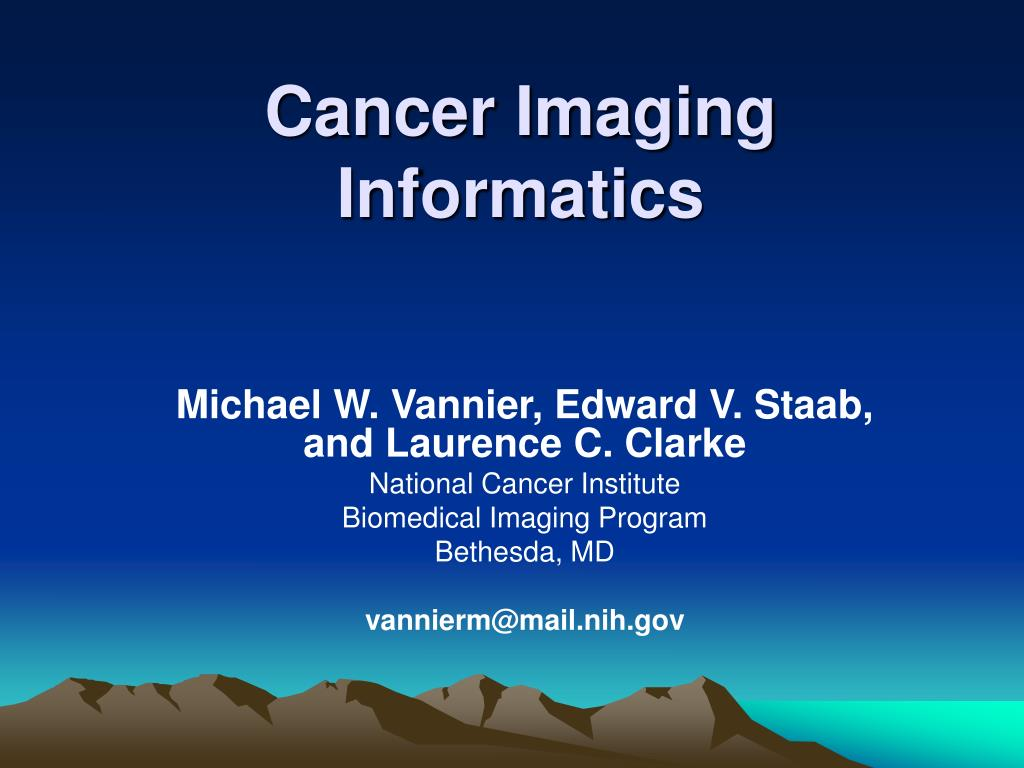 cancer imaging informatics l.