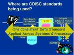 where are cdisc standards being used