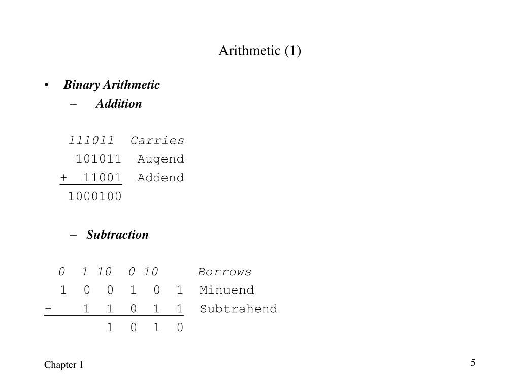 Arithmetic (1)