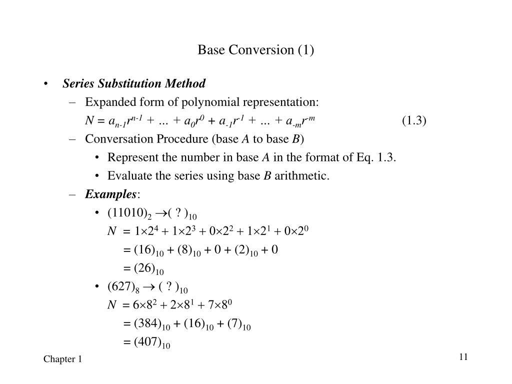 Base Conversion (1)